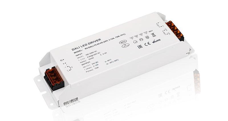 Диммируемые (0-10V, DALI) блоки питания на 24 Вольт (24V DC)