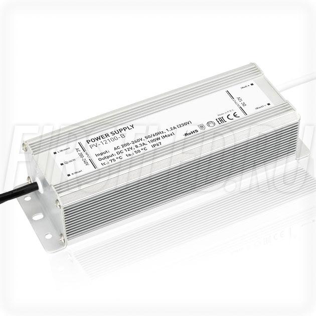 Блок питания 100W — 12V, 8.3A (IP66, Металл-B)
