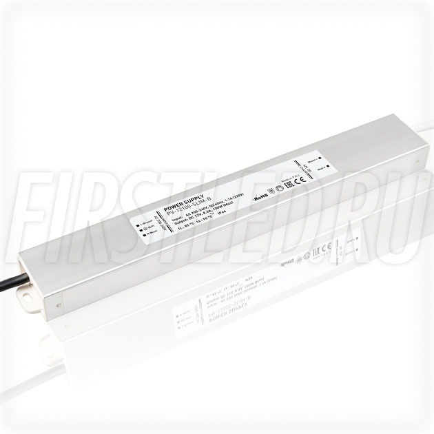 Блок питания 100W — 12V, 8.3A (IP67, Металл-B-Slim)