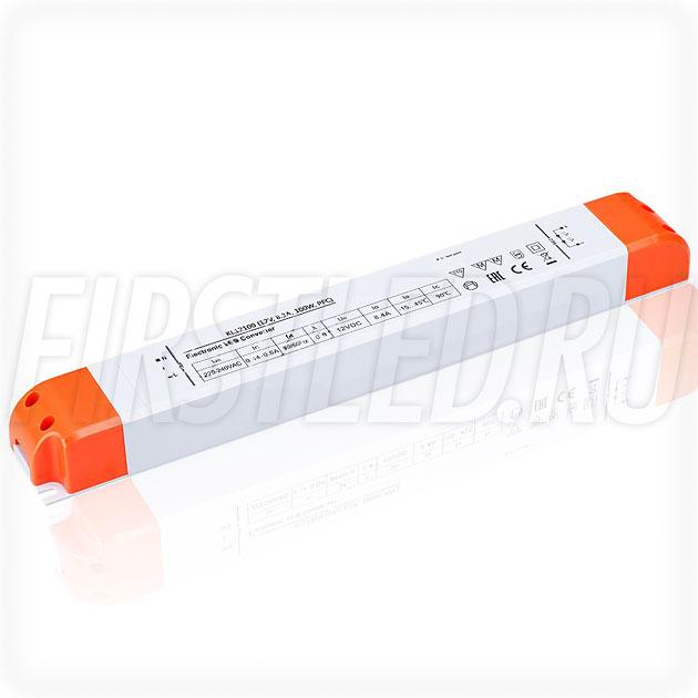 Блок питания 100W — 12V, 8.3A, PFC (Компактный, Пластик-KL)