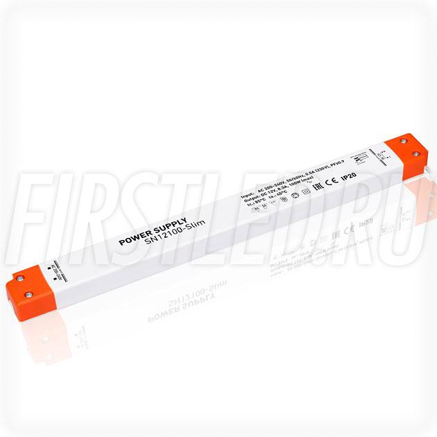 Блок питания 100W — 12V, 8.3A, PFC (Сверхтонкий, Пластик-SN)