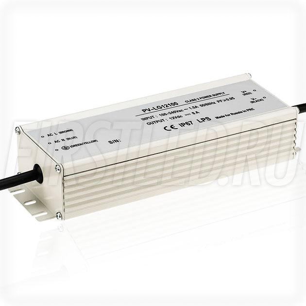 Блок питания 100W — 12V, 8A, PFC (IP67, Металл-LG)