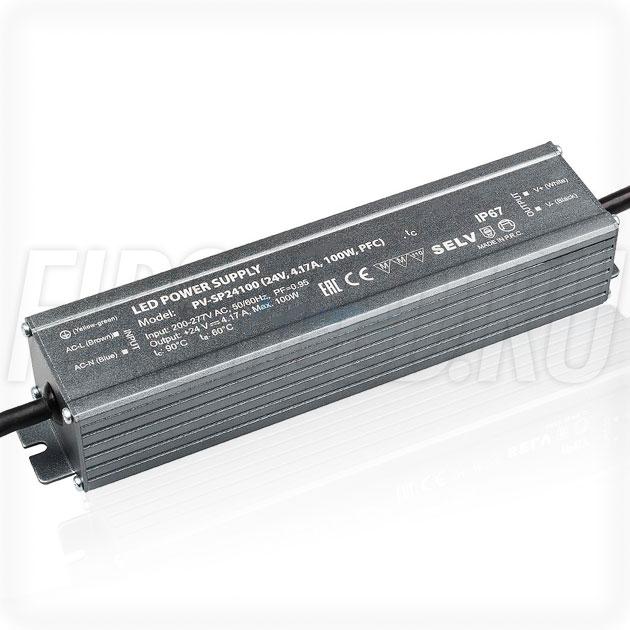 Блок питания 100W — 24V, 4.17A, PFC (IP67, Металл-SP)