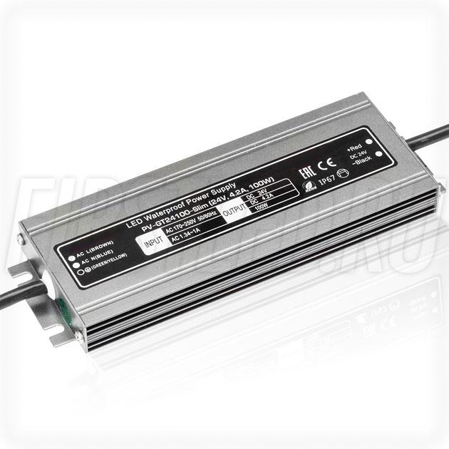 Блок питания 100W — 24V, 4.2A (IP67, Металл-GT-Slim)