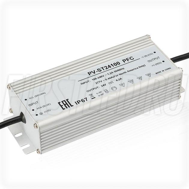 Блок питания 100W — 24V, 4.2A, PFC (IP67, Металл-ST)