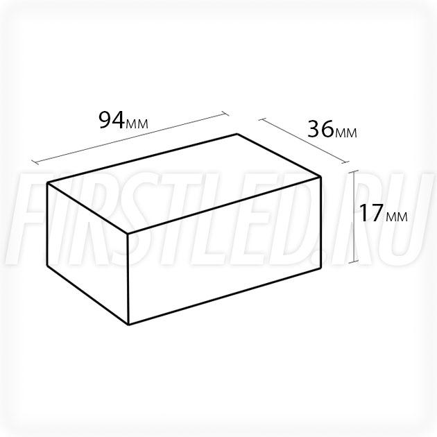 Блок питания 10W — 12V, 0.83A (IP67, Металл-D)