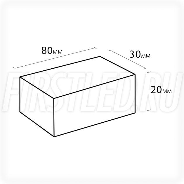 Блок питания 12W — 12V, 1A (IP67, Металл-D)