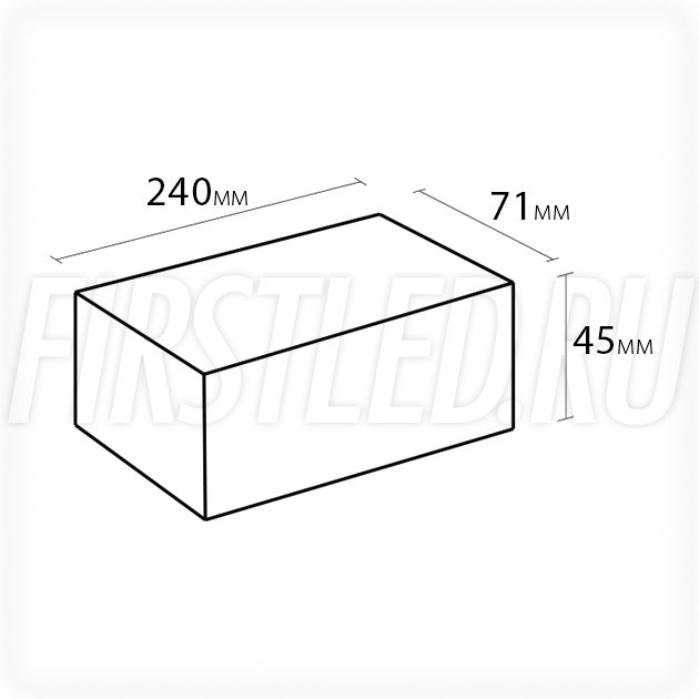 Блок питания 150W — 12V, 12.5A (IP67, Металл-B)