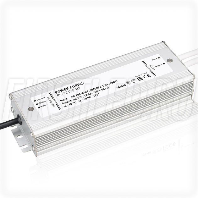 Блок питания 150W — 12V, 12.5A (IP67, Металл-B1)