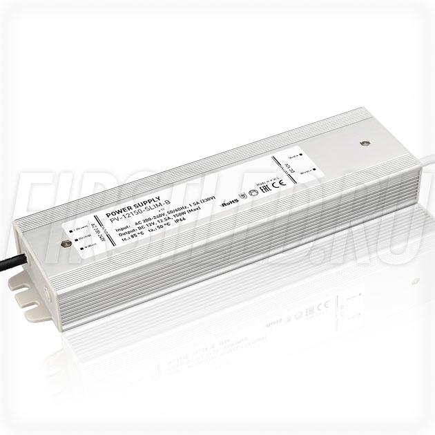 Блок питания 150W — 12V, 12.5A (IP66, Металл-B-Slim)
