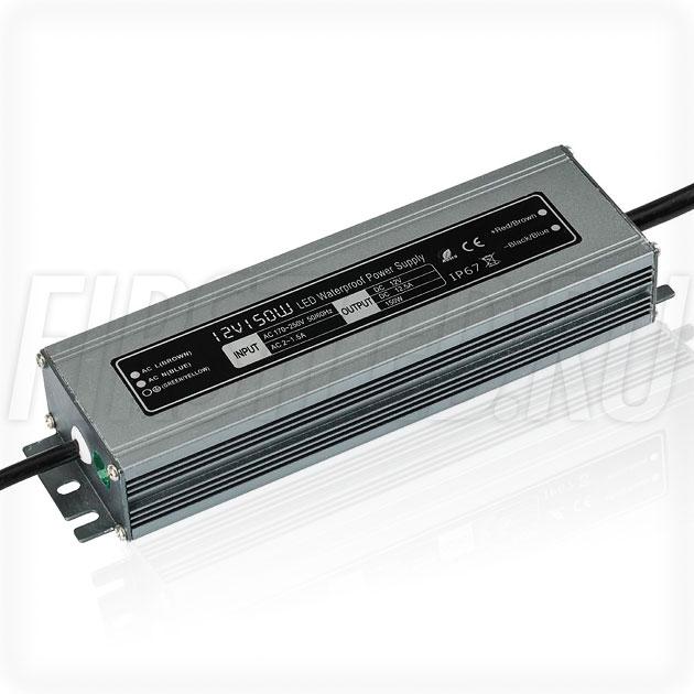 Блок питания 150W — 12V, 12.5A (IP67, Металл-GT-Slim)