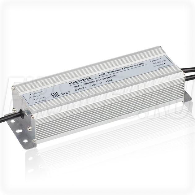 Блок питания 150W — 12V, 12.5A (IP67, Металл-ST)