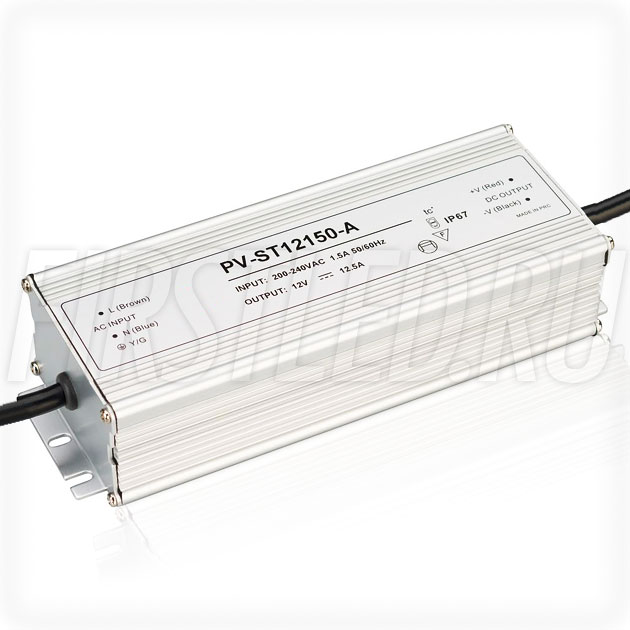 Блок питания 150W — 12V, 12.5A (IP67, Металл-STA)