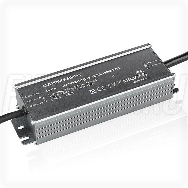Блок питания 150W — 12V, 12.5A, PFC (IP67, Металл-SP)
