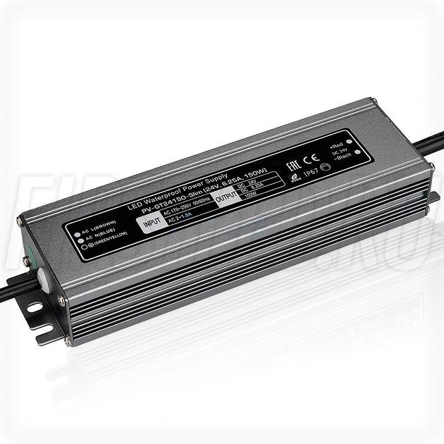 Блок питания 150W — 24V, 6.25A (IP67, Металл-GT-Slim)