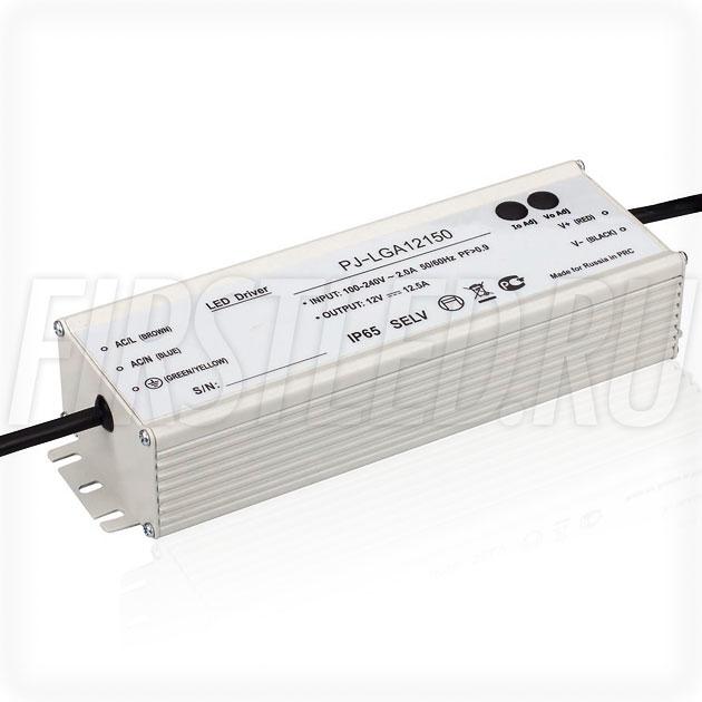 Блок питания 150W — 9-12V, 7.5-13.0A, PFC (IP67, Металл-LGA)