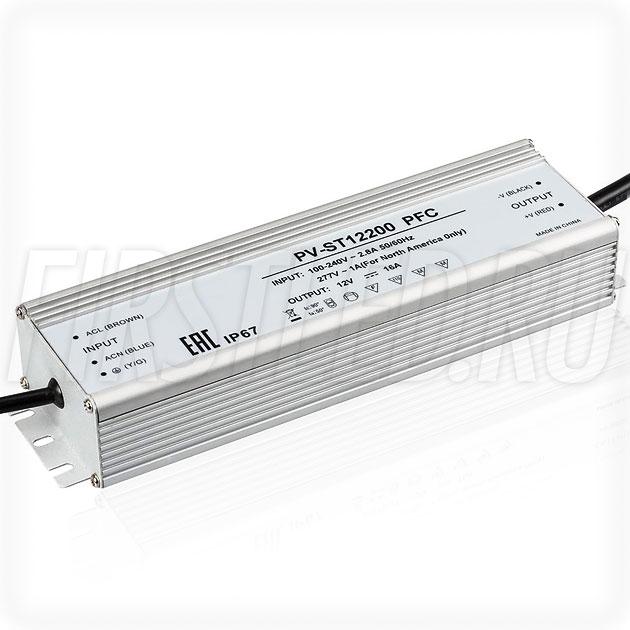 Блок питания 192W — 12V, 16A, PFC (IP67, Металл-ST)