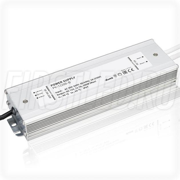 Блок питания 200W — 12V, 16.7A (IP66, Металл-B)