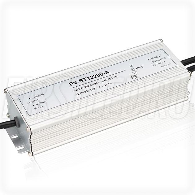 Блок питания 200W — 12V, 16.7A (IP67, Металл-STA)