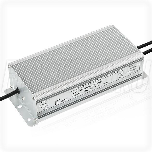 Блок питания 200W — 24V, 8.3A (IP67, Металл-ST)