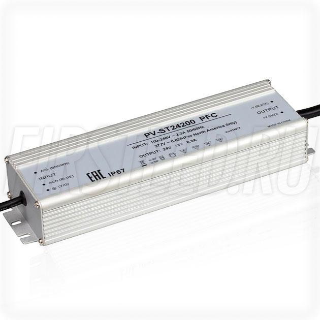 Блок питания 200W — 24V, 8.3A, PFC (IP67, Металл-ST)