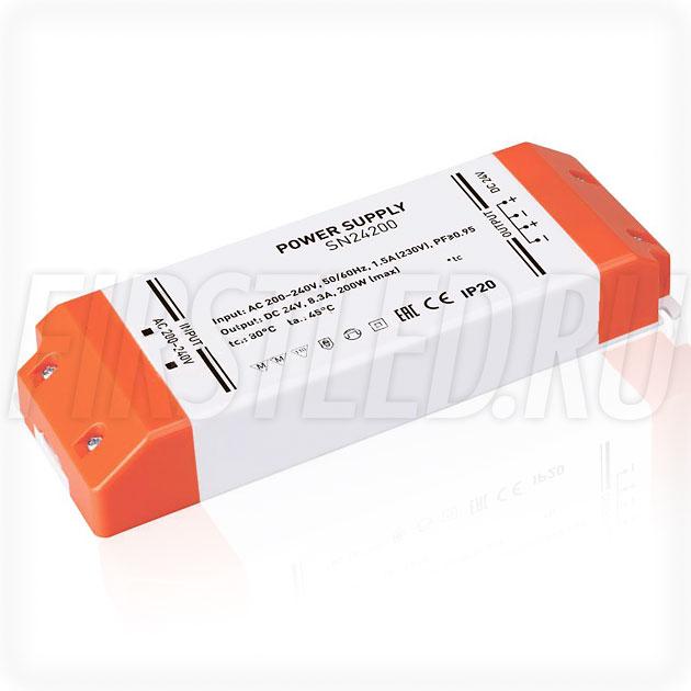 Блок питания 200W — 24V, 8.3A, PFC (Компактный, Пластик-SN)
