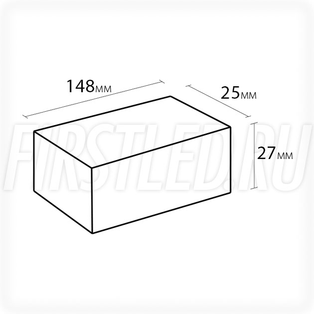 Блок питания 20W — 12V, 1.7A (IP67, Металл-B)