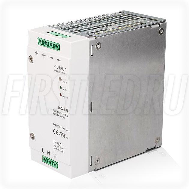 Блок питания на DIN-рейку 240W — 24V, 10A, PFC (Серия-DIN)