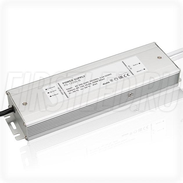 Блок питания 250W — 12V, 20.8A (IP67, Металл-B)