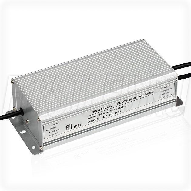 Блок питания 250W — 12V, 20.8A (IP67, Металл-ST)