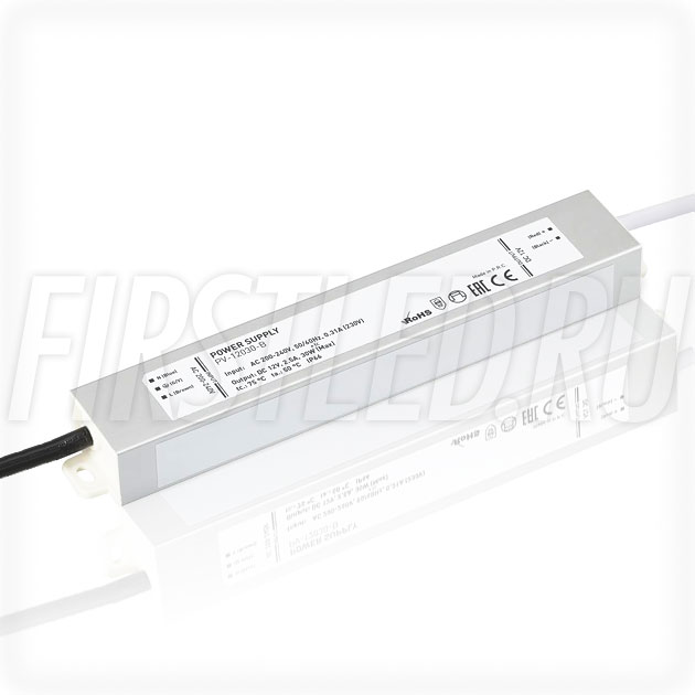 Блок питания 30W — 12V, 2.5A (IP66, Металл-B)