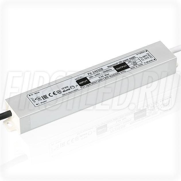 Блок питания 30W — 24V, 1.25A (IP66, Металл-B)