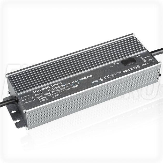 Блок питания 320W — 22-27V, 6.7-13.4A, PFC (IP65, Металл-SPA)