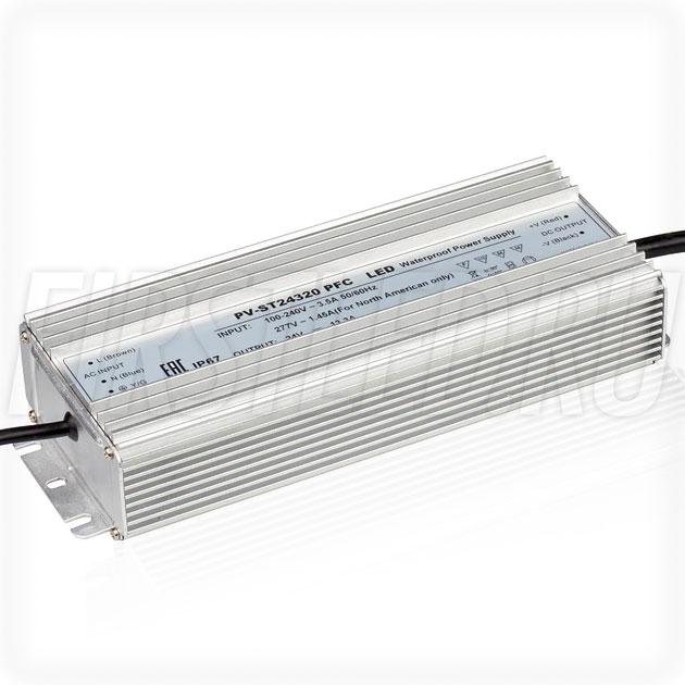 Блок питания 320W — 24V, 13.3A, PFC (IP67, Металл-ST)