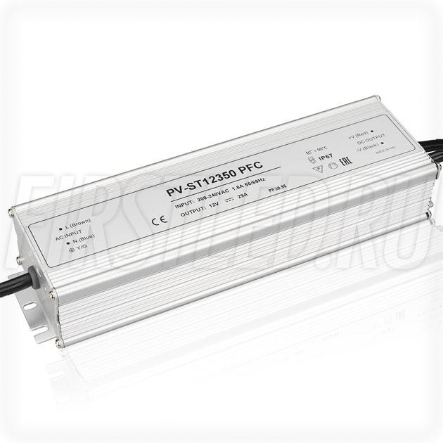Блок питания 350W — 12V, 29A, PFC (IP67, Металл-ST)