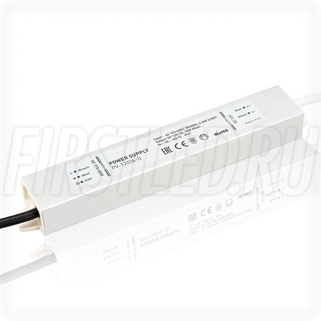Блок питания 36W — 12V, 3A (IP67, Металл-D)