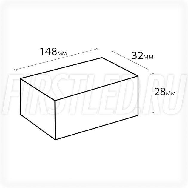 Блок питания 36W — 12V, 3A (IP67, Пластик-LV)