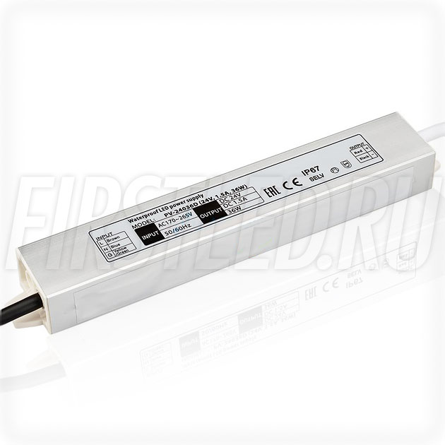 Блок питания 36W — 24V, 1.5A (IP67, Металл-D)