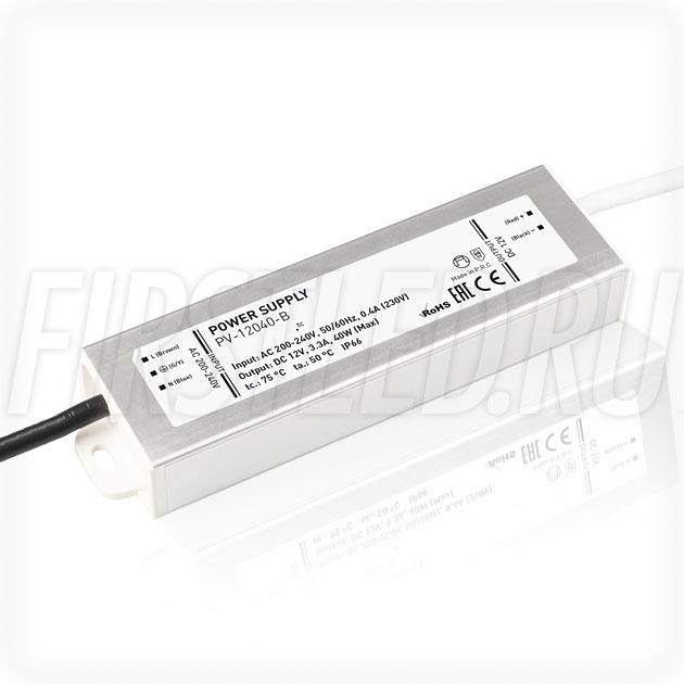 Блок питания 40W — 12V, 3.3A (IP67, Металл-B)