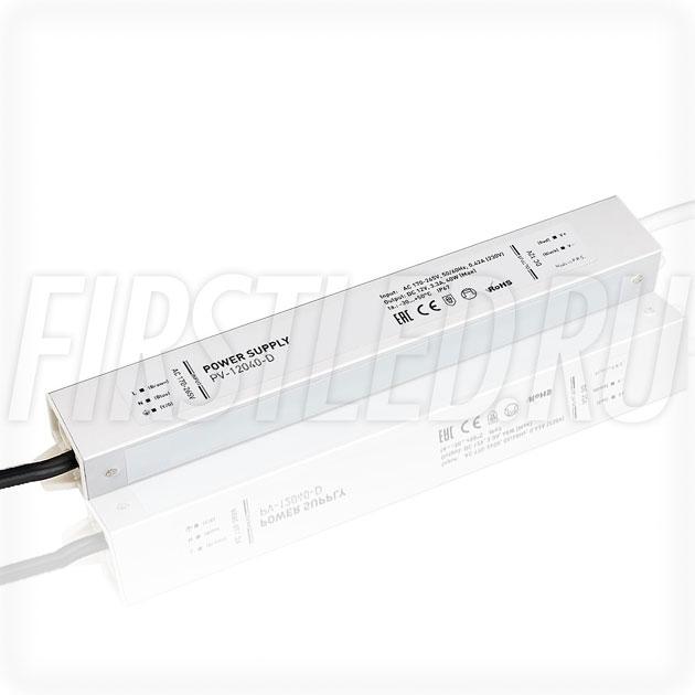Блок питания 40W — 12V, 3.3A (IP67, Металл-D)