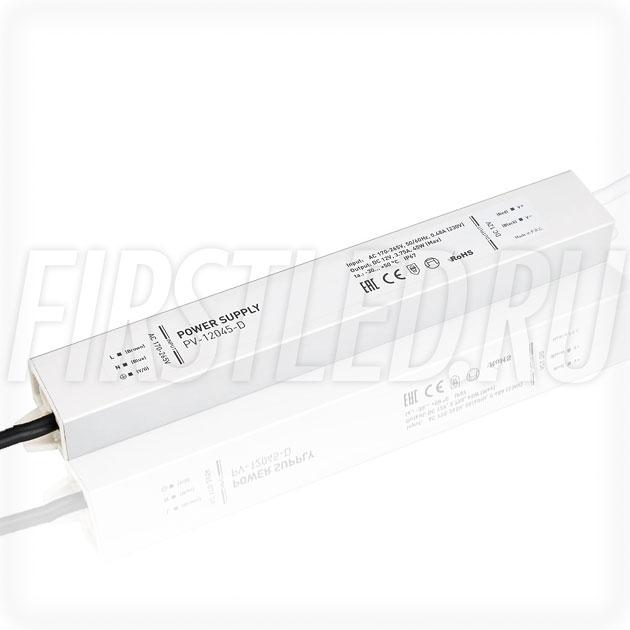 Блок питания 45W — 12V, 3.8A (IP67, Металл-D)
