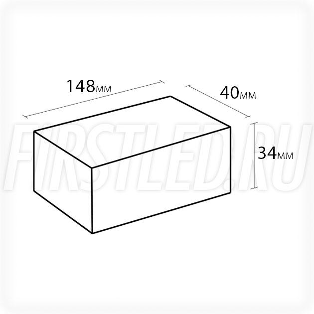 Блок питания 48W — 12V, 4A (IP67, Пластик-LVA)