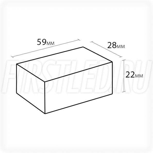 Блок питания 5W — 12V, 0.4A (IP67, Пластик-LV)
