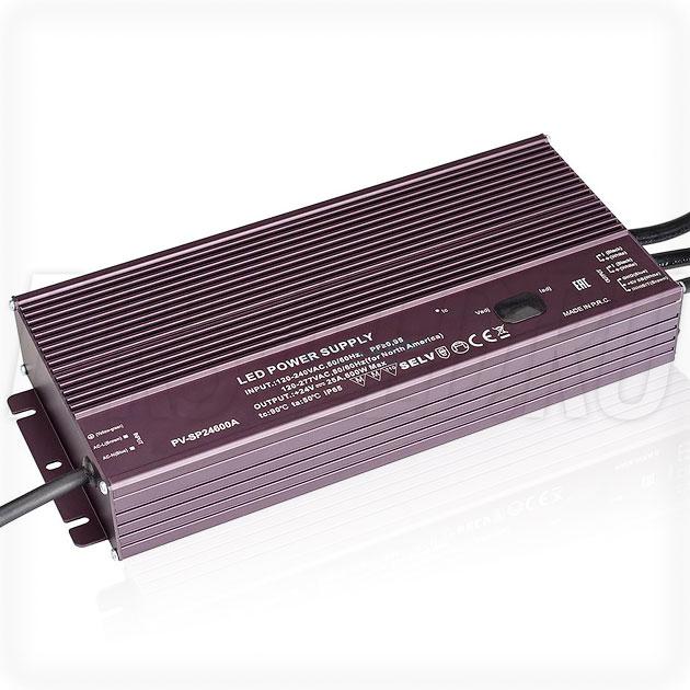 Блок питания 600W — 20,4-25,2V, 12.5-25A, PFC (IP65, Металл-SPA)