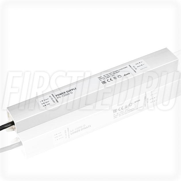 Блок питания 60W — 12V, 5A (IP67, Металл-D)