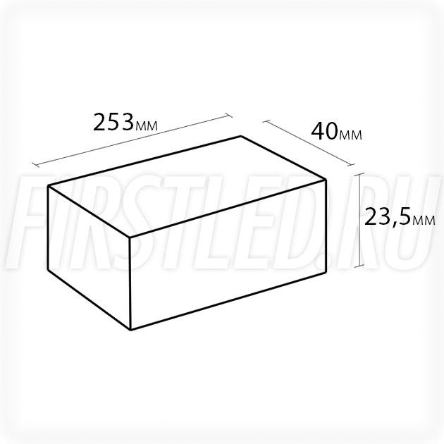 Блок питания 60W — 12V, 5A, PFC (IP67, Металл-STB-Slim)