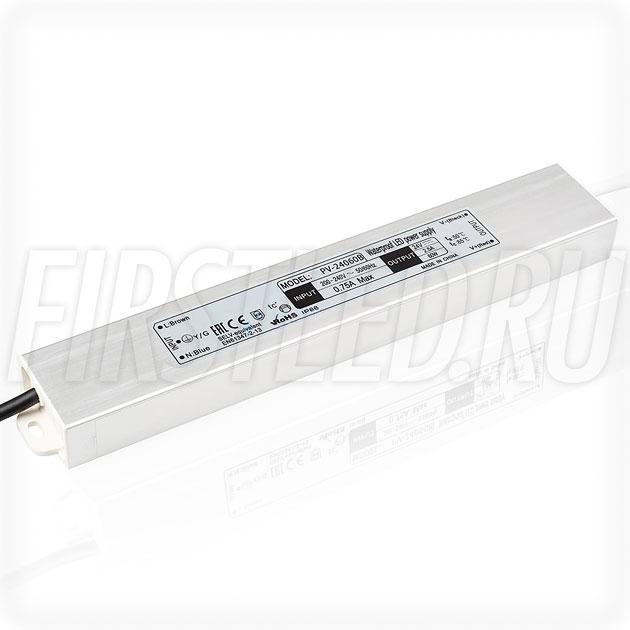 Блок питания 60W — 24V, 2.5A (IP66, Металл-B-Slim)