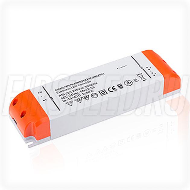 Блок питания 60W — 24V, 2.5A, PFC (Компактный, Пластик-KL)