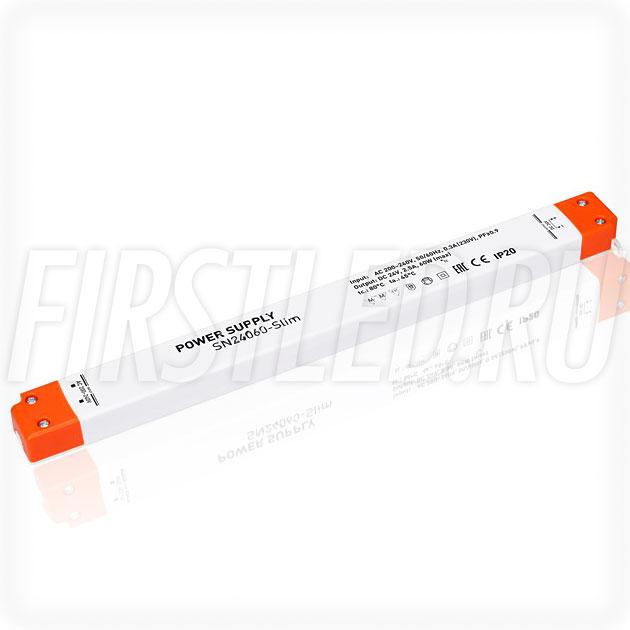 Блок питания 60W — 24V, 2.5A, PFC (Сверхтонкий, Пластик-SN)