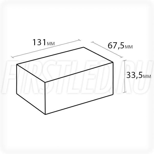 Блок питания 75W — 12V, 6.3A, PFC (IP67, Металл-UH)